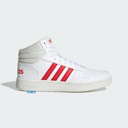 Кроссовки Adidas HOOPS 2.0 MID (Cloud White / Vivid Red)