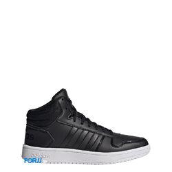 Кроссовки Adidas HOOPS 2.0 MID (Black-white)